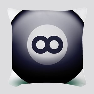 Infinity Eight Ball Woven Throw Pillow