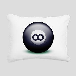 Infinity Eight Ball Rectangular Canvas Pillow