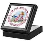 Follow Me To Wonderland Keepsake Box