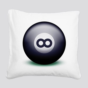 Infinity Eight Ball Square Canvas Pillow