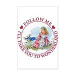 Follow Me To Wonderland Mini Poster Print
