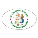 A Poor Sort of Memory Sticker (Oval 10 pk)