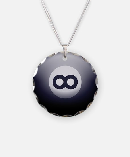 Infinity Eight Ball Necklace
