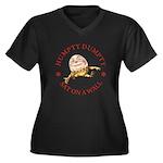 Humpty Dumpty Women's Plus Size V-Neck Dark T-Shir