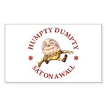 Humpty Dumpty Sticker (Rectangle 10 pk)