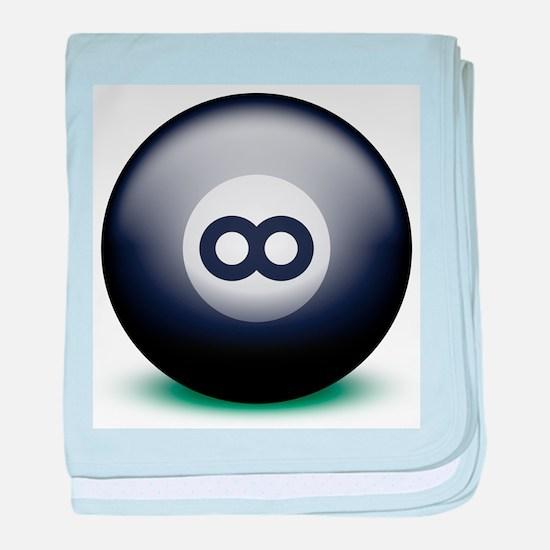Infinity Eight Ball baby blanket