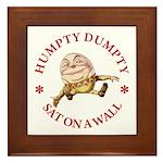 Humpty Dumpty Framed Tile