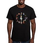 All Around Alice Men's Fitted T-Shirt (dark)