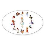 All Around Alice Sticker (Oval 10 pk)