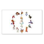 All Around Alice Sticker (Rectangle 50 pk)