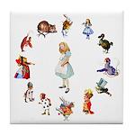 All Around Alice Tile Coaster