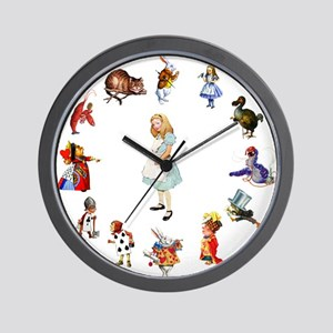 All Around Alice Wall Clock