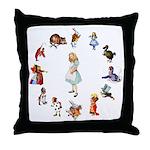 All Around Alice Throw Pillow