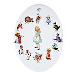 All Around Alice Ornament (Oval)