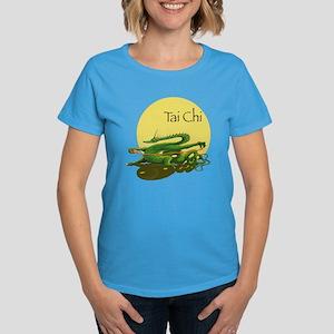 Women's Dark T-Shirt with Tai Chi design