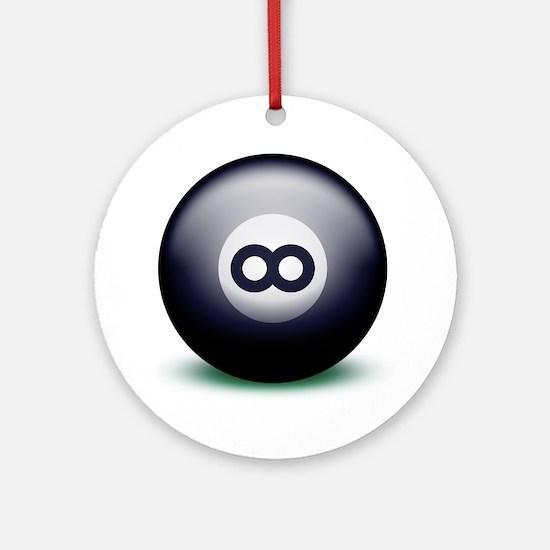 Infinity Eight Ball Round Ornament