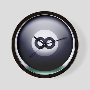 Infinity Eight Ball Wall Clock