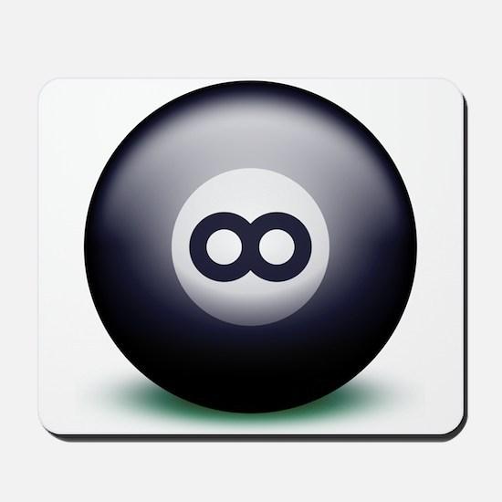 Infinity Eight Ball Mousepad