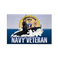 Navy Veteran SSN-23 Rectangle Magnet