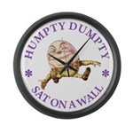 Humpty Dumpty Large Wall Clock