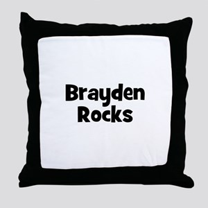 Brayden Rocks Throw Pillow