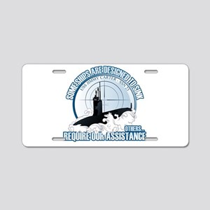 Designed to Sink Aluminum License Plate