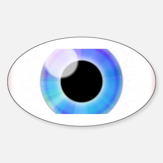 Eyeball.png Sticker (Oval)
