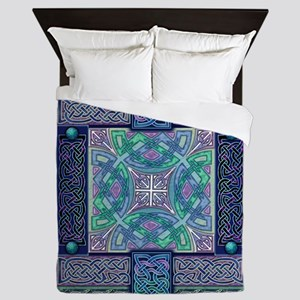 Celtic Atlantis Opal Queen Duvet Cover