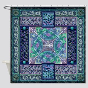 Celtic Atlantis Opal Shower Curtain