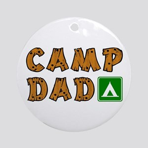 Camp Dad Ornament (Round)