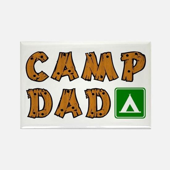 Camp Dad Rectangle Magnet (100 pack)