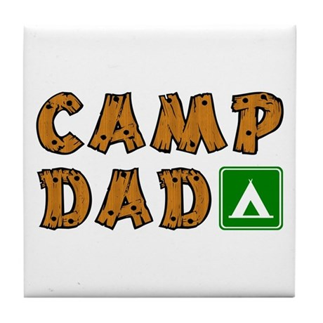 Camp Dad Tile Coaster