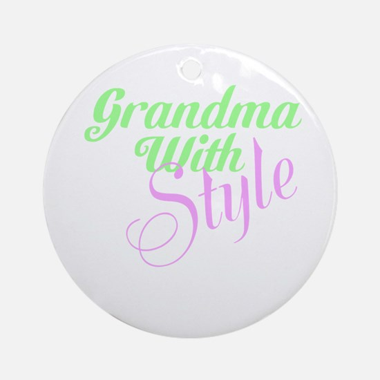 Grandma With Style Ornament (Round)