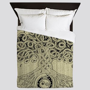 Celtic Tree of Life Ink Queen Duvet Cover