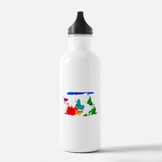 Cute Map Water Bottle