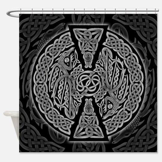 Celtic Dragons Shower Curtain