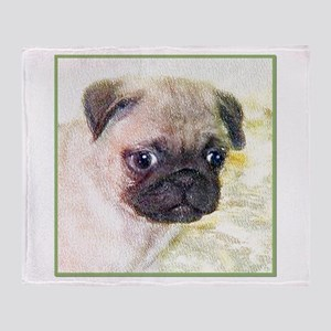 Pug Dog Throw Blanket