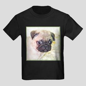 Pug Dog Kids Dark T-Shirt
