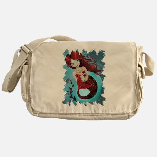 Ruby Mermaid Messenger Bag