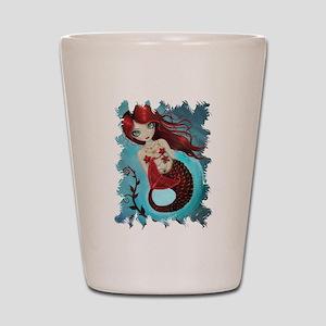 Ruby Mermaid Shot Glass