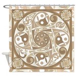 Celtic Stepping Stone Shower Curtain