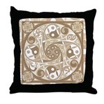 Celtic Stepping Stone Throw Pillow