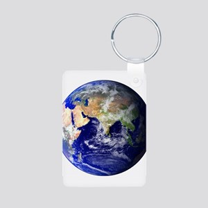 Earth (Middle East) Aluminum Photo Keychain