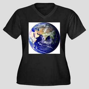 Earth (Middle East) Women's Plus Size V-Neck Dark
