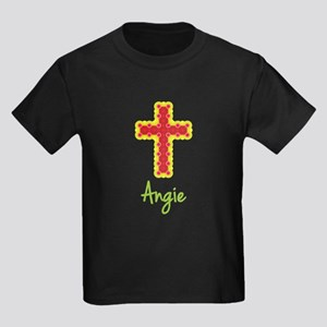 Angie Bubble Cross Kids Dark T-Shirt