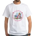 Follow Me To Wonderland White T-Shirt