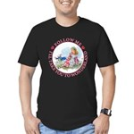 Follow Me To Wonderland Men's Fitted T-Shirt (dark