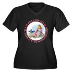 Follow Me To Wonderland Women's Plus Size V-Neck D
