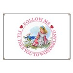 Follow Me To Wonderland Banner