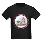 Follow Me To Wonderland Kids Dark T-Shirt